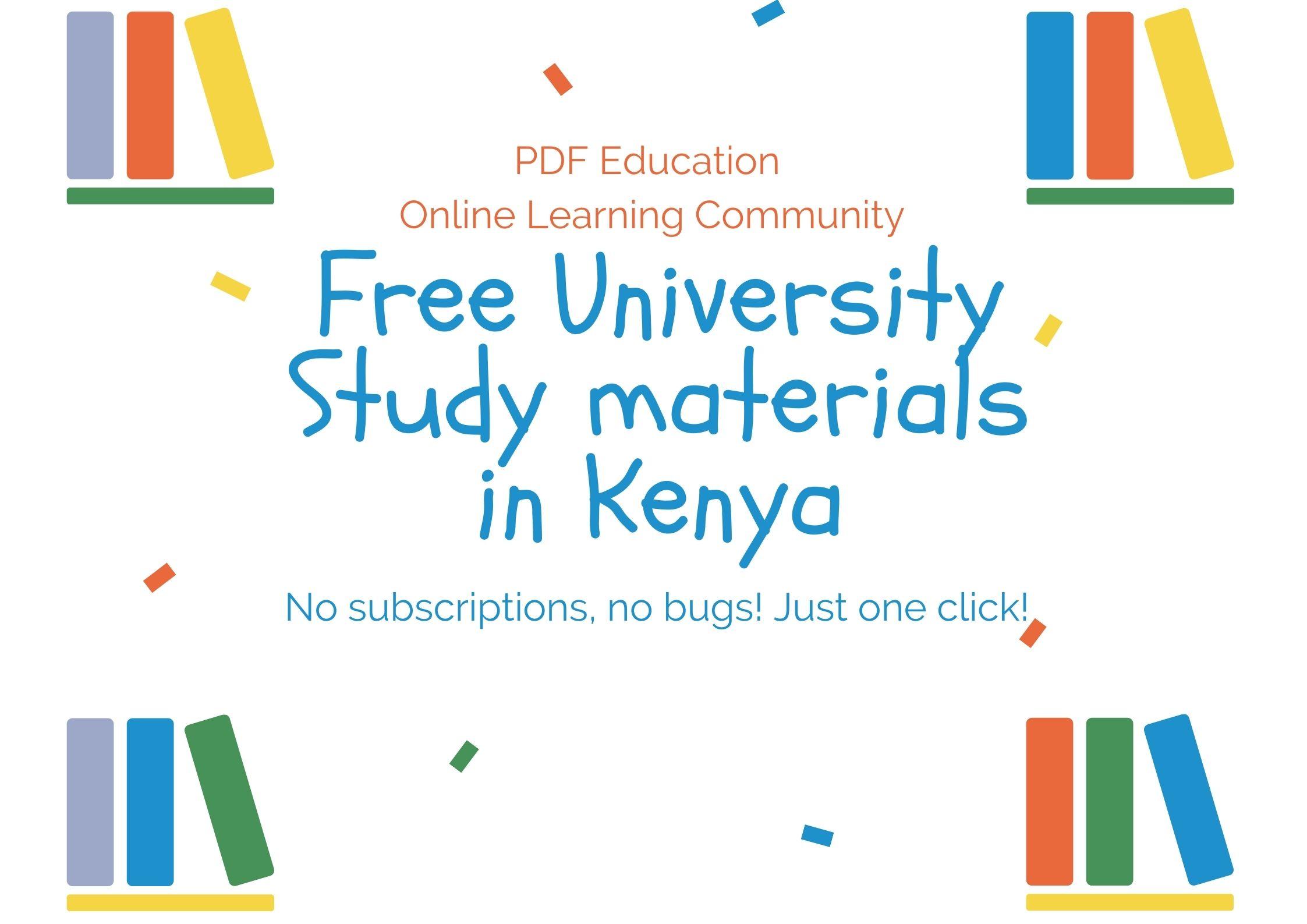 Free University Notes PDF Downloads
