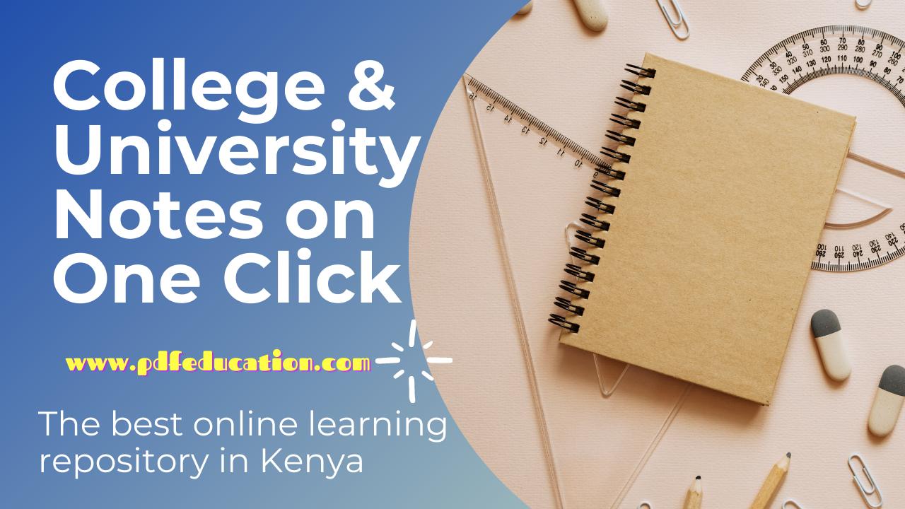 Download free kenyatta University Notes