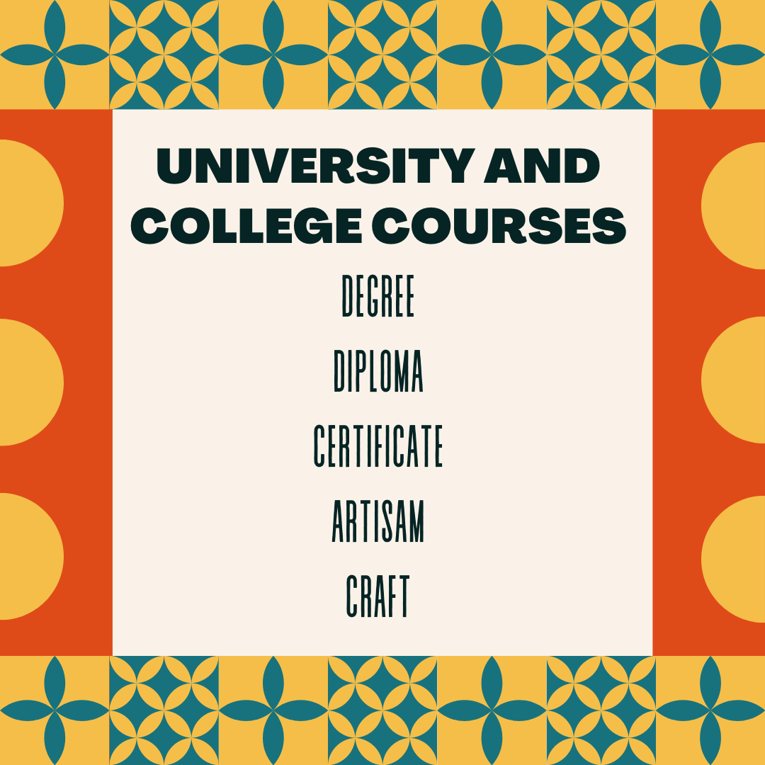 Courses offered in Kenya